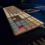 Pro-tools keyboard with the  EditorsKeys stickers set.  Twickenham theatre 1